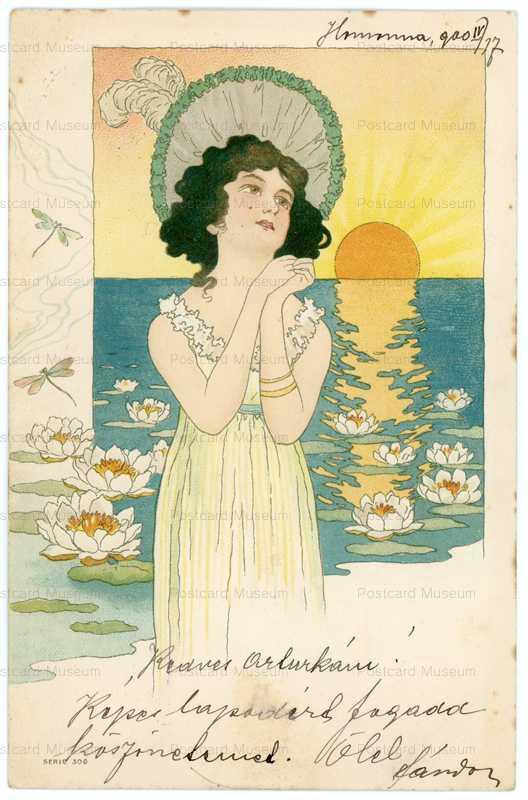 abc100-Erotic Lady in Sunset