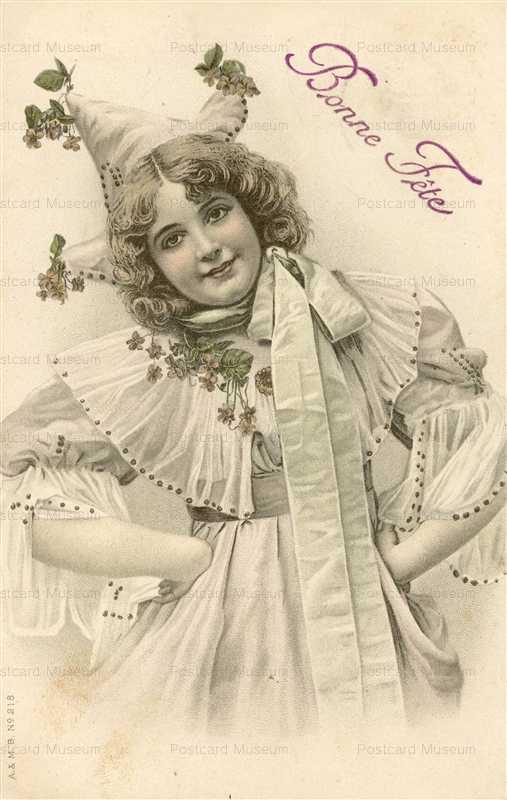 abc180-Pierrot Hat Prettty Woman Bonne Fete