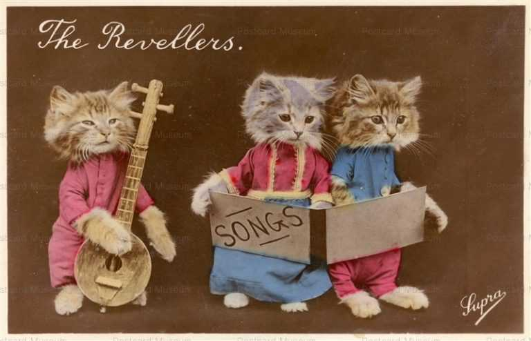ac005-Dressed Cat Rock Band The Revellers
