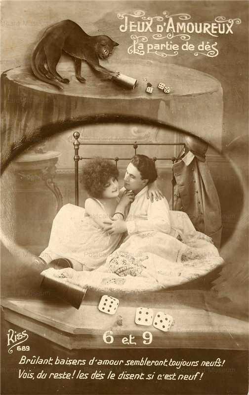acb028-Black Cat Gamble Love Dice Game 69