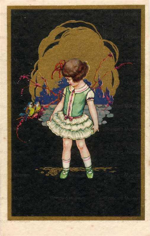ad070-Unsg Castelli Art Deco Girl