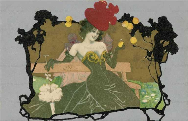 ad220-Beautiful Woman-Parasol Stewart Wolf