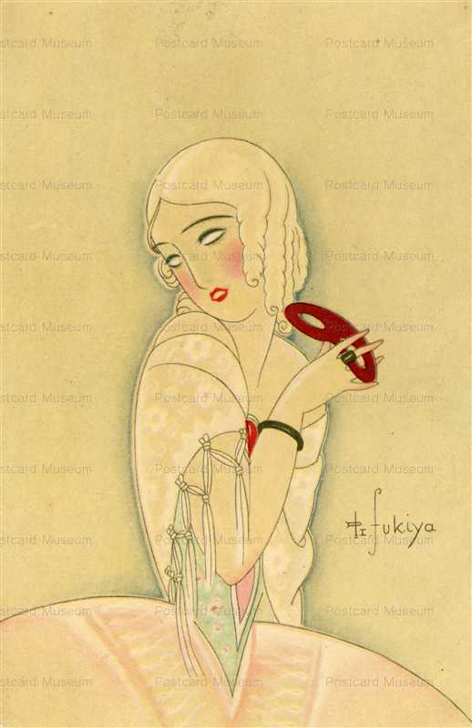 af050-蕗谷虹児 仮面舞踏会の女性