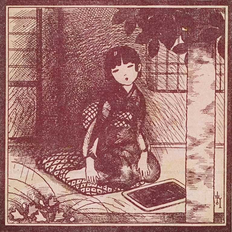 af980-蕗谷虹児 女の子供