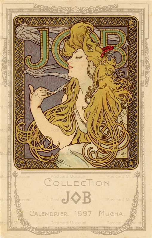 am007-Collection JOB Calendrier 1897 Alphons Mucha