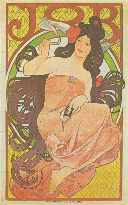 am009-JOB Affiche 1898 Alphons Mucha