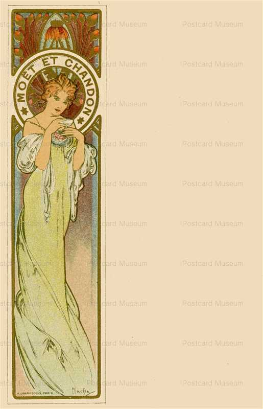 am010-Moet & Chandon 1900 Alphons Mucha