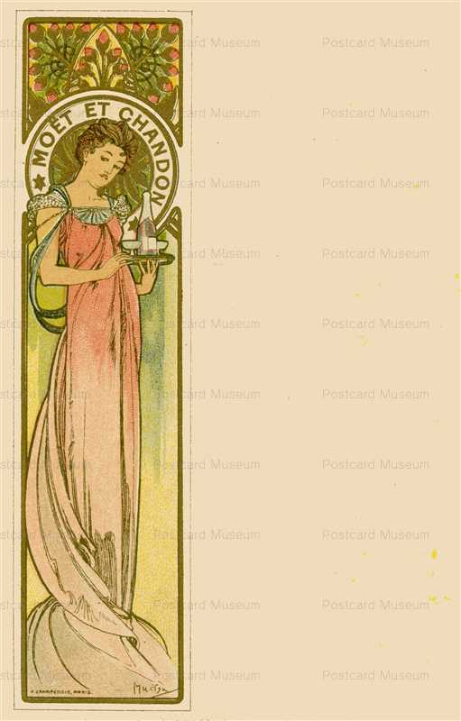 am011-Moet & Chandon 1900 Alphons Mucha