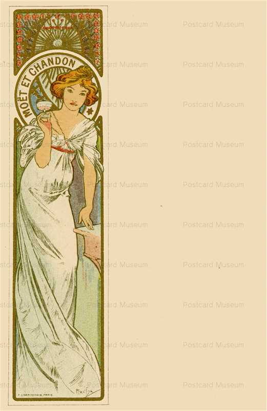 am012-Moet & Chandon 1900 Alphons Mucha