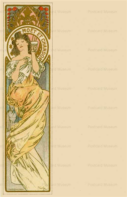 am013-Moet & Chandon 1900 Alphons Mucha