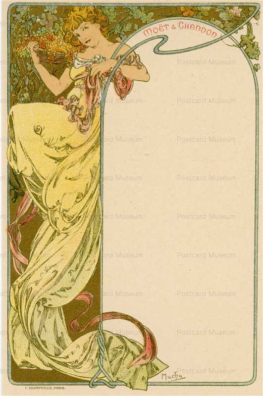 am014-Moet & Chandon menu 1900 Alphons Mucha