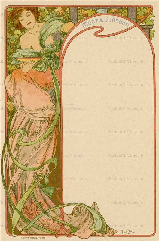 am016-Moet & Chandon menu 1900 Alphons Mucha
