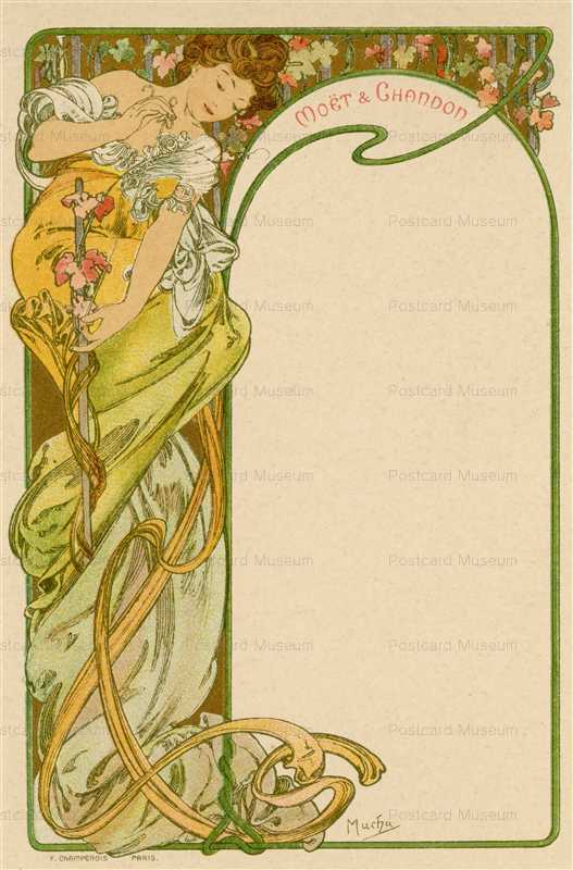 am017-Moet & Chandon menu 1900 Alphons Mucha