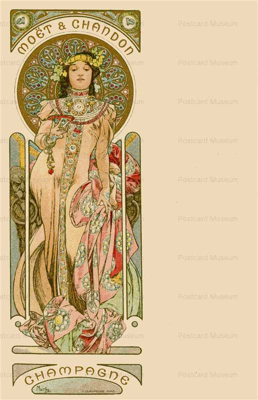 am019-Moet & Chandon 1900 Alphons Mucha