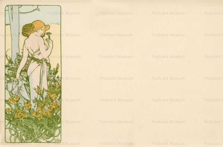 am024-Carnation 1900 Alphons Mucha