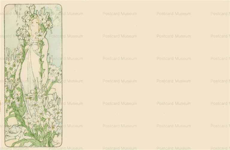 am026-Lilies 1900 Alphons Mucha