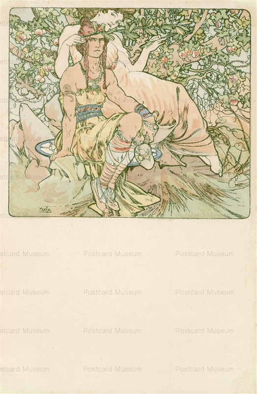 am030-Four Ages of Man.Manhood 1900 Alphons Mucha