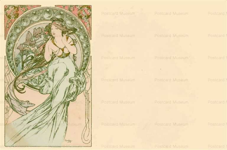 am042-Music 1900 Alphons Mucha