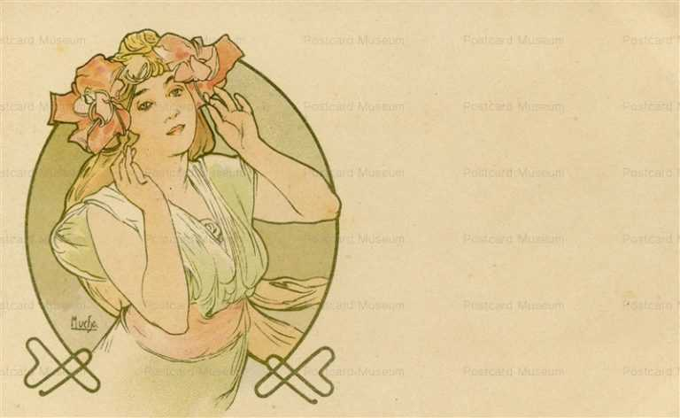 am047-Design for Postcard 1900 Alphons Mucha