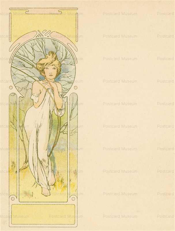 am048-Spring 1900 Alphonse Mucha