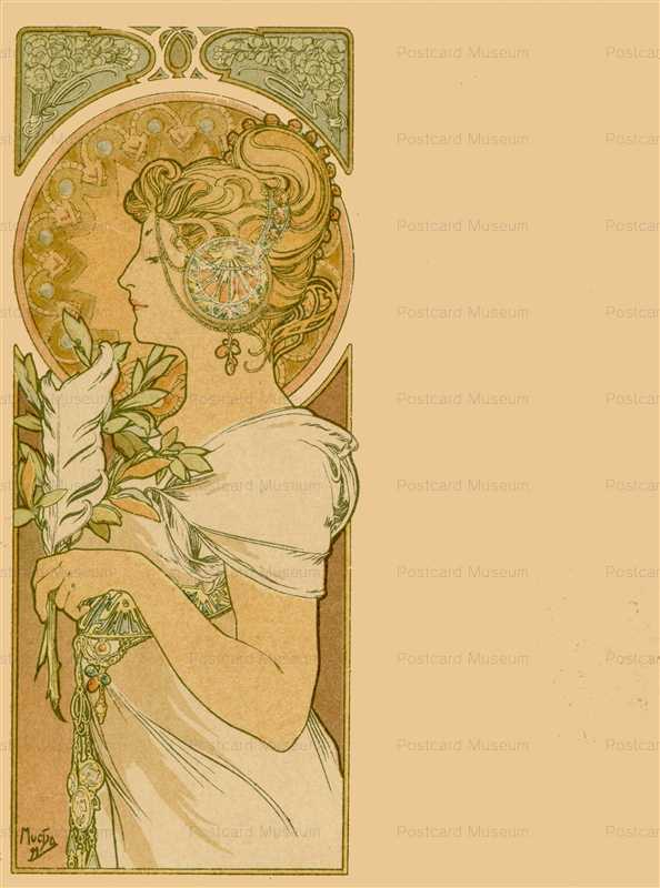 am056-Feathern 1899 Alphons Mucha
