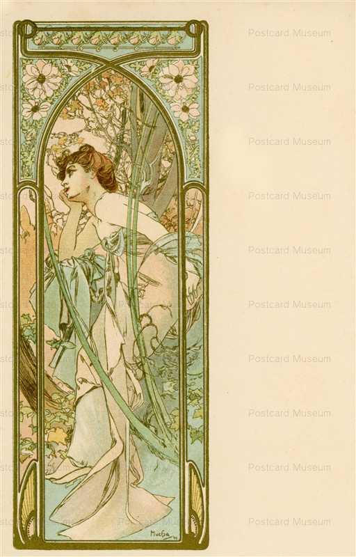 am084-Reverie of Evening 1899 Alphons Mucha