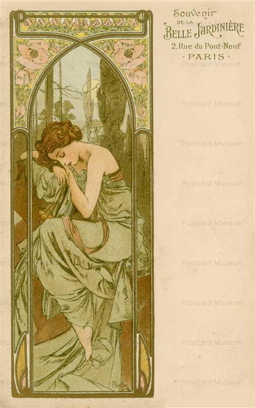 am085-Repose of Night 1899 Alphons Mucha
