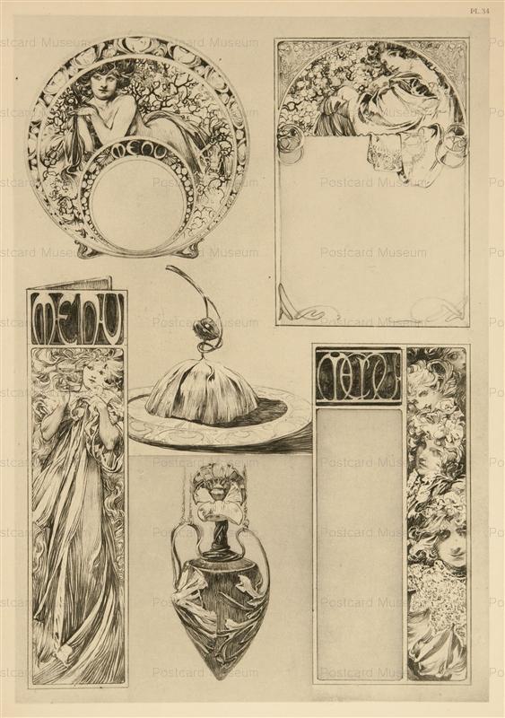amg014-Documents Decoratifs Pl.34 Litho 1902 Alphons Mucha