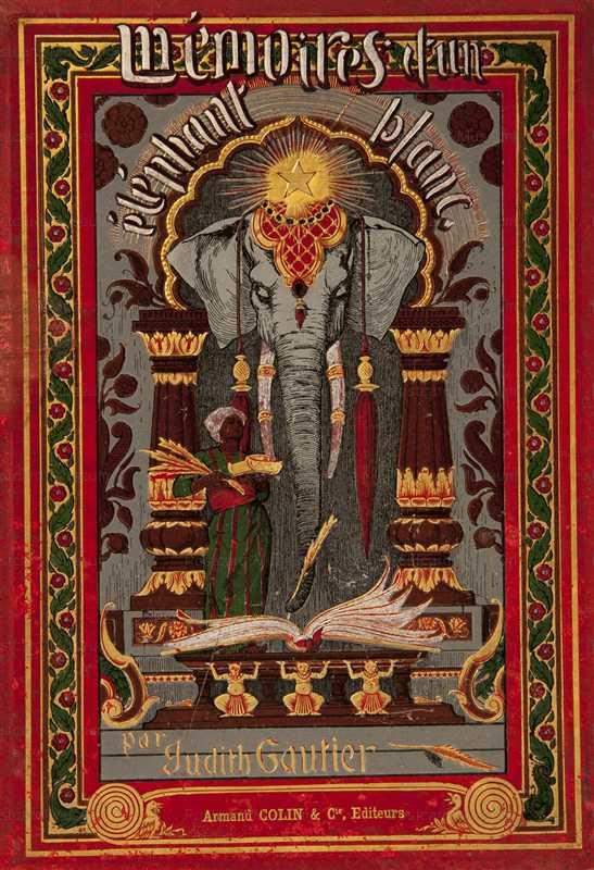 amg062-Memoire d'un Elefant Blonc Hard Book Cover 1894 Alphons Mucha