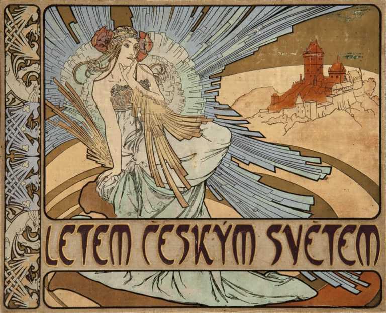 amg063-Letem Ceskym Svetem Hard Magazine Cover 1901 Alphons Mucha