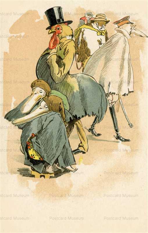ap250-シルクハットの雄鶏とペリカン