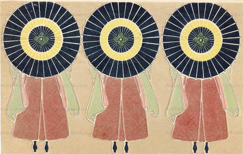 ar009-蛇の目傘の女学生後ろ姿