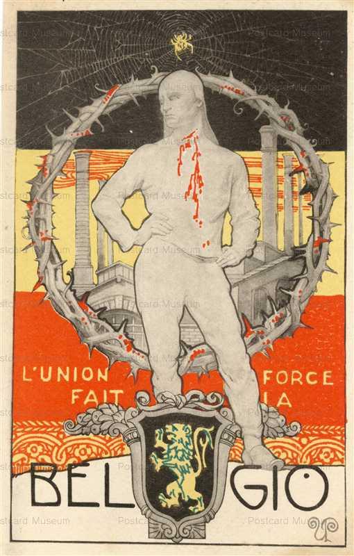 art050-Belgio Art Deco Belgium Flag WWI