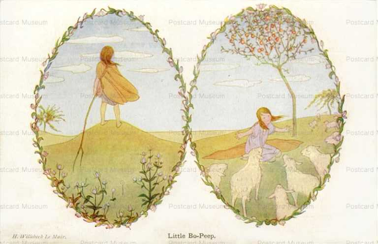 art100-Willebeek Le Mair Child Little Bo-Peep