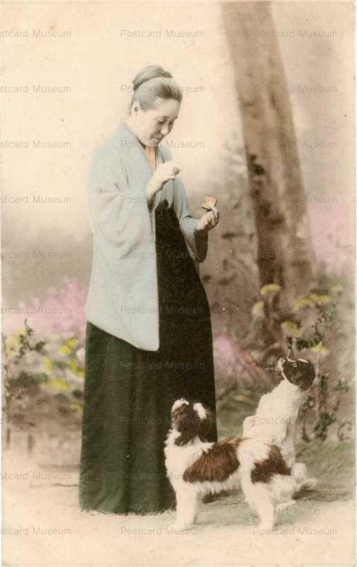 ba002-犬と婦人
