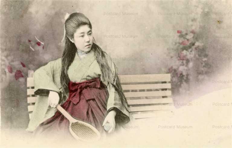 bh028-テニスラケットを持つ美人
