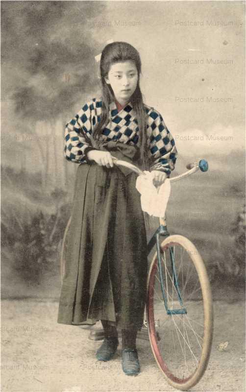 bh050-自転車と美人