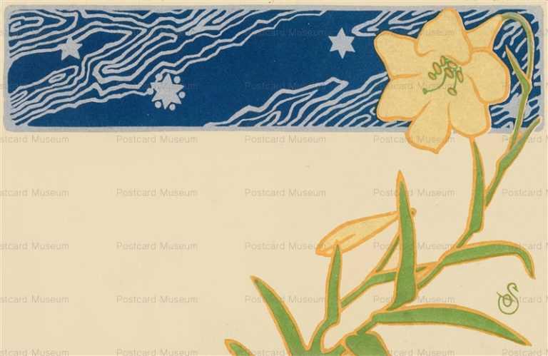 bo150-太田三郎 百合と星図