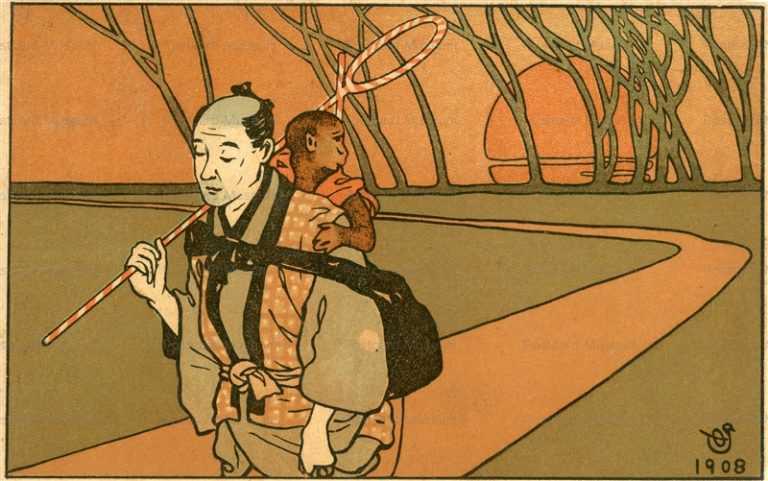 bo230-太田三郎 猿廻し1908