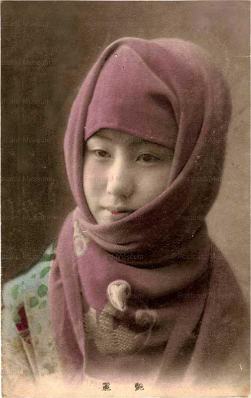 bv011-ベール美人 紫の御高祖頭巾