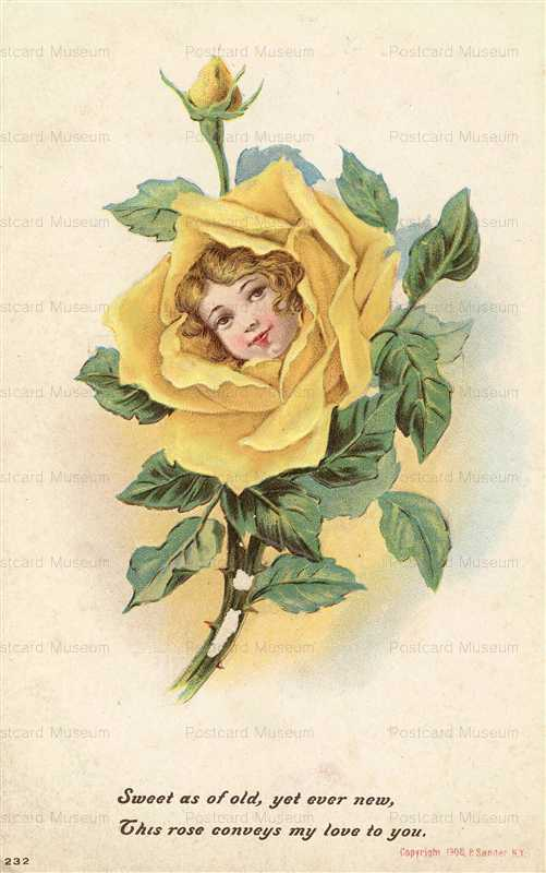 c139-My Love to You Girl in Yellow Rose P Sander