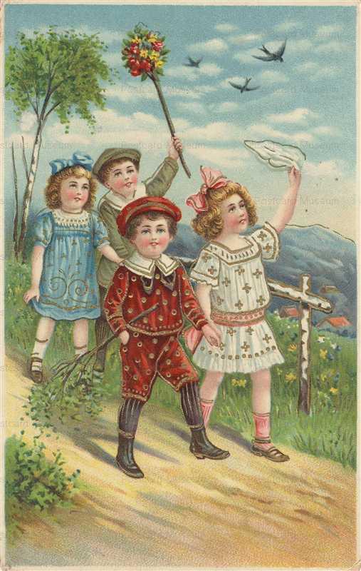 c190-Victorian Children Gilded