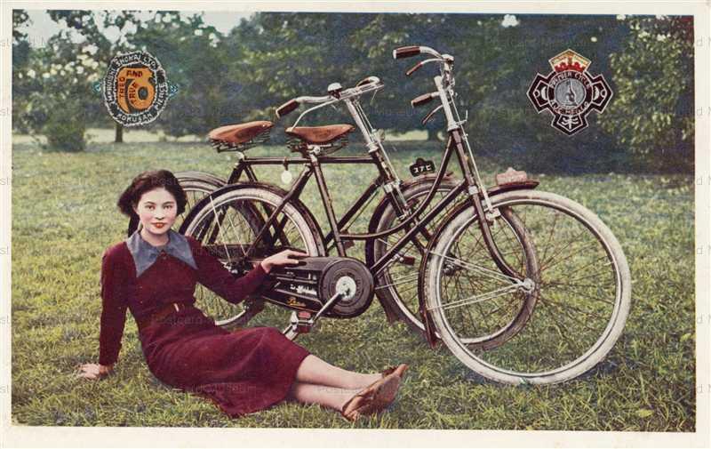 cc430-丸石自転車と美人