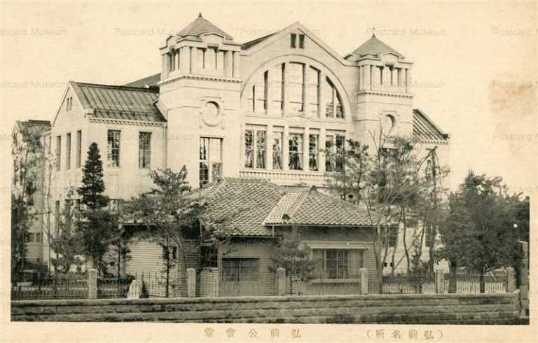 eb415-Hirosaki Public Hall 弘前公会堂 弘前名所