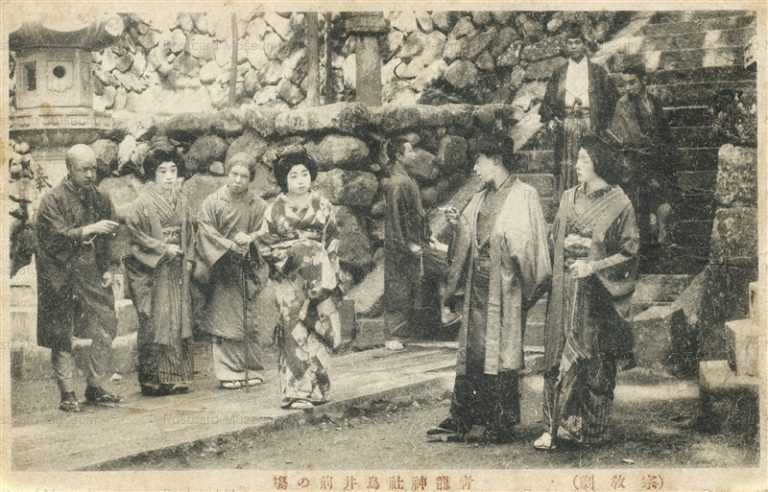 ege240-宗教劇 青龍神社鳥居前の場
