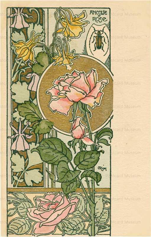 em015-C Riom Ancolie Rose