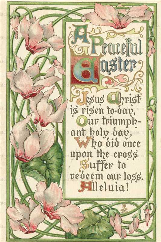 em200-Peaceful Easter Cyclamen