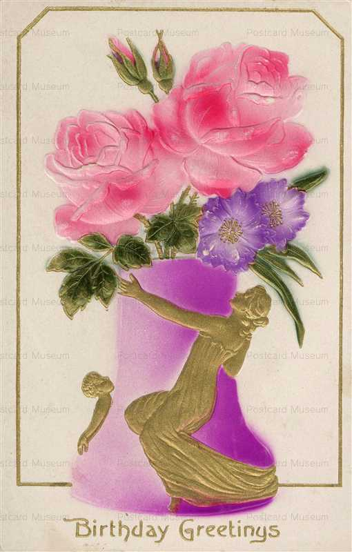 em804-Rose Vases Embossed
