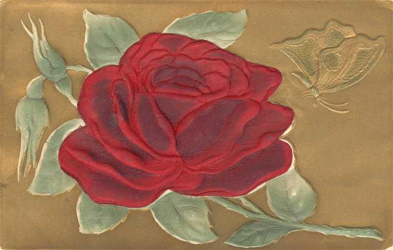 em810-Embossed Silk Rose Gold Foil