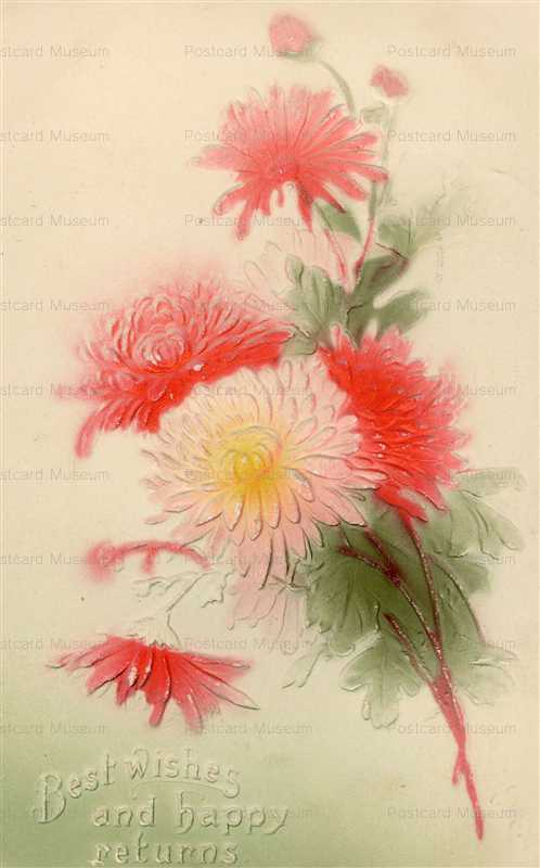 em830-Best Wishes Chrysanthemum Emboss